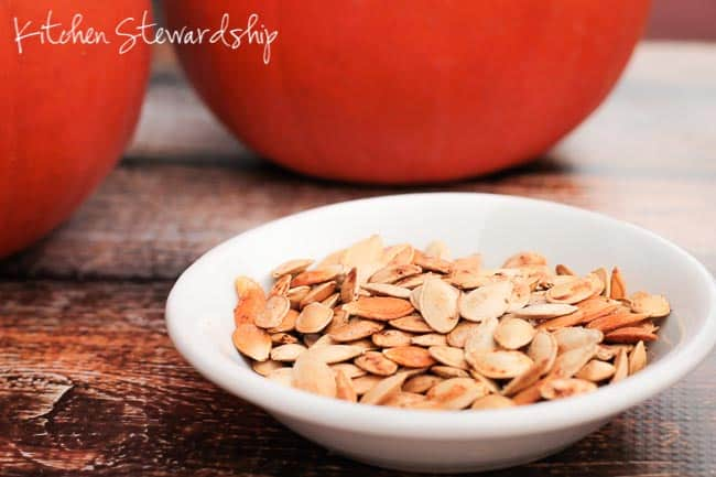 Soaked Crispy Pumpkin Seeds. Super easy instructions for how to make pumpkin seeds for a fall-spiced (or just spicy), healthy Halloween treat. Step-by-step making pumpkin seeds tutorial includes how to soak seeds overnight for maximum nutrition.