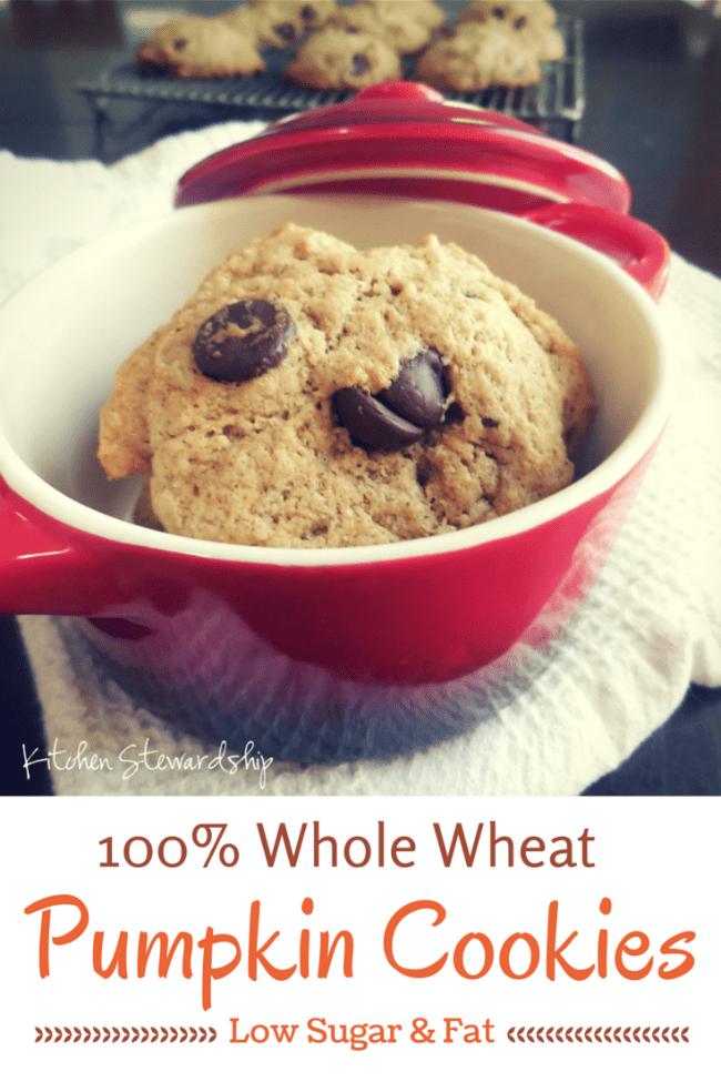 Easy, Healthy Pumpkin Cookies - A kid-friendly healthy pumpkin cookies recipe that everyone loves. Variations of healthy pumpkin cookies have part or all whole wheat flour, even chocolate chips or raisins. So easy!