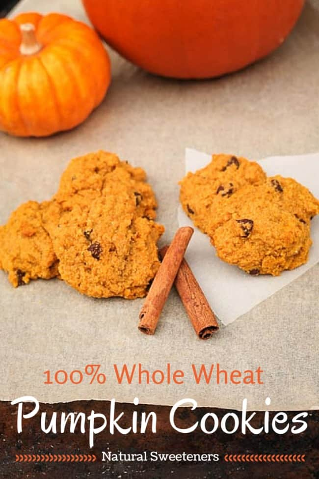 Healthy Whole Wheat Pumpkin Cookies