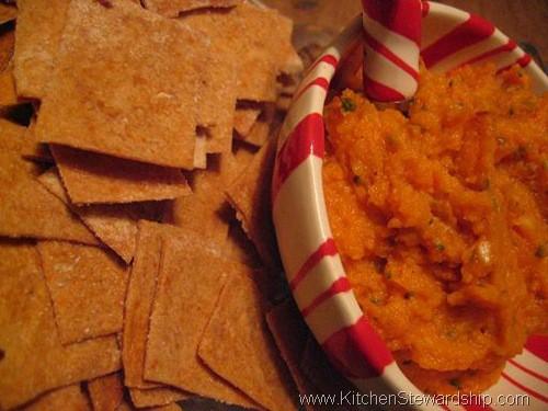 sweet potato garlic dip