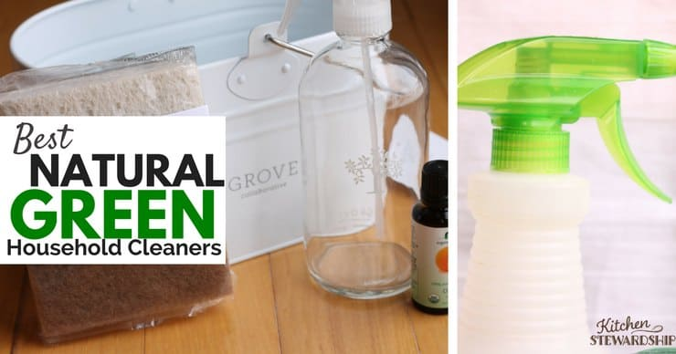 Best Natural Green Cleaners - a mix of DIY recipes and reviews of commercial options. Find out what's really non-toxic and worth your time and money!