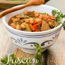 Whole Foods for the Holidays: Tuscan Beef and Bean Stew Recipe {Crockpot, Main Course}