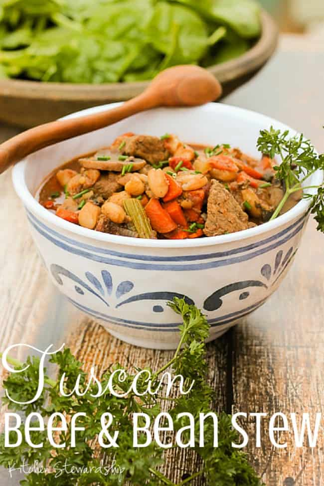Tuscan Beef and Bean Stew
