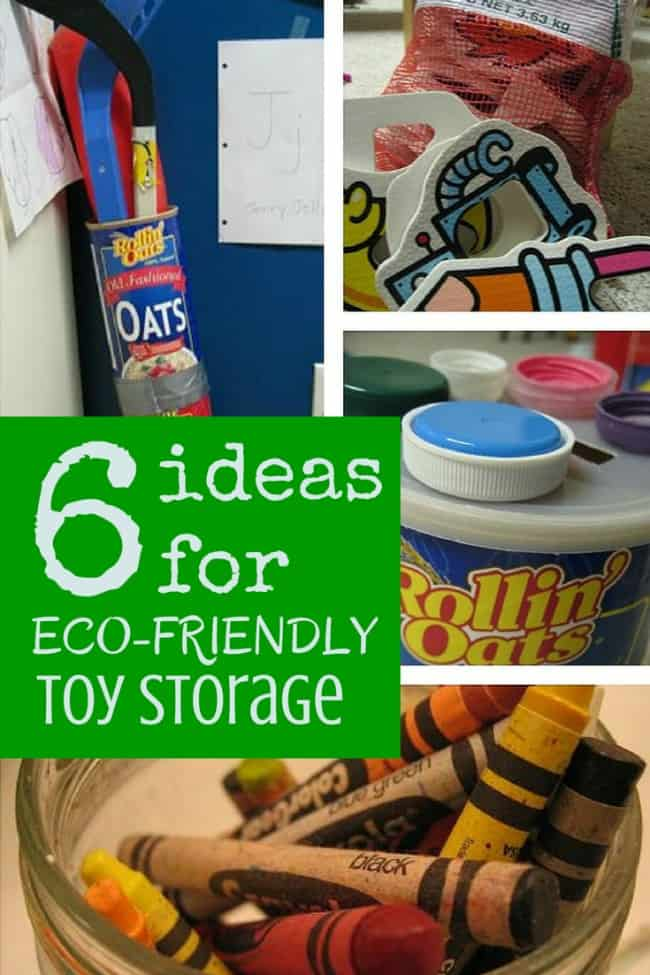 6 Ideas for Free Eco-Friendly Toy Storage