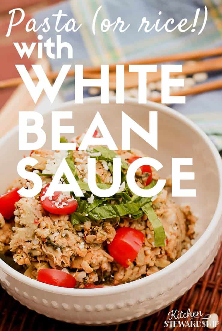 Pasta or rice with White Bean Sauce