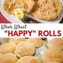 "Homemade Whole Wheat ""Happy"" Rolls Recipe"