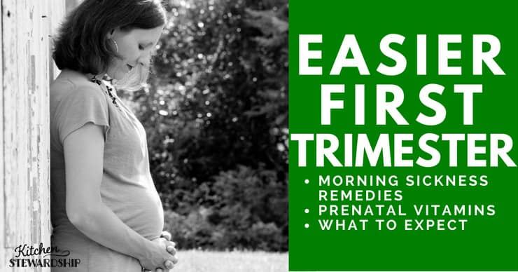 The first trimester can be challenging! I've got some natural solutions for morning sickness and alternatives for prenatal vitamins.