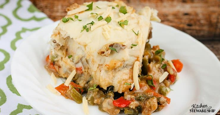 Veggie Laden Shepherds Pie