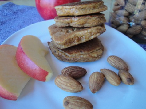 grain free almond apple pancakes