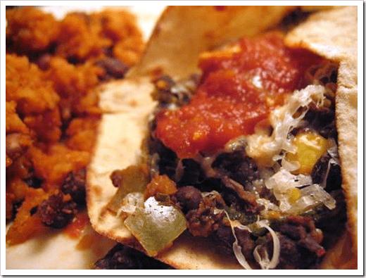 veggie bean burritos