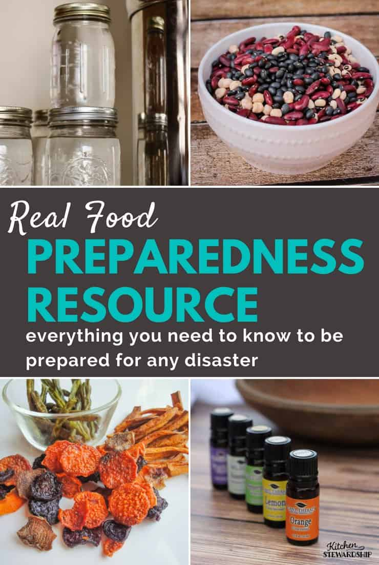 This is your one-stop-shop for real food preparedness. It's a massive list of resources that will help you store real food and be prepared for an emergency.