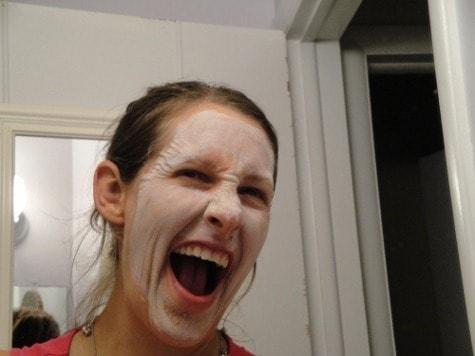 Mime...or natural facial treatment?