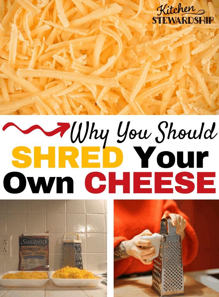 shred cheese, shredding cheese
