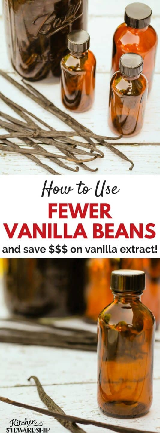 Recipe for the MOST frugal homemade vanilla extract you can make! Use a quarter of the beans and half the time!! Easy instructions for gift ideas.