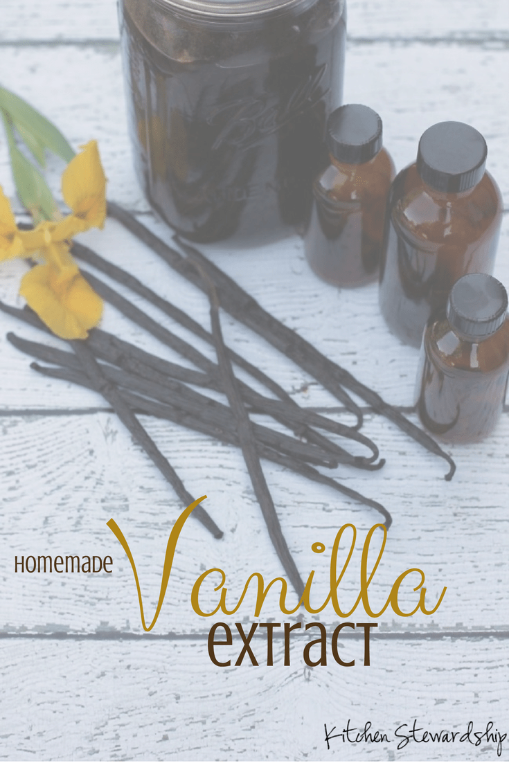 Recipe for homemade vanilla extract: sweetener free, simple, and frugal. [With discount code for vanilla beans!] Easy instructions for a great Christmas gift, you'll love making homemade vanilla extract.