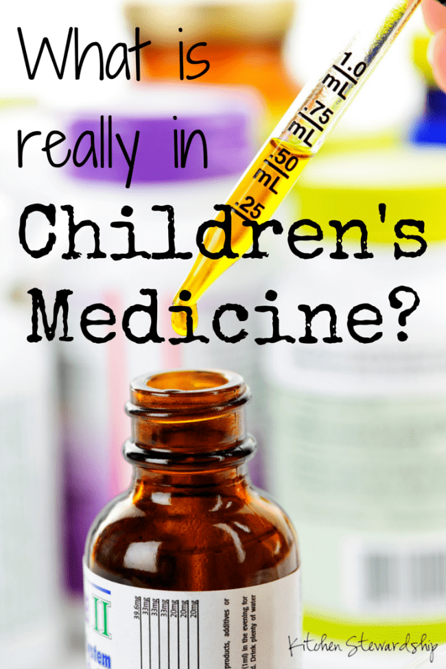 What is really in Childrens Medicine