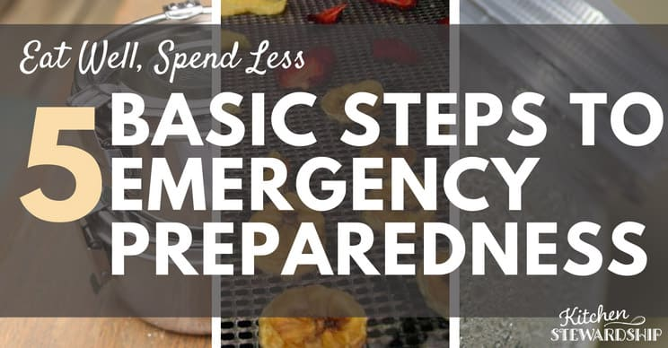 When an emergency strikes you want to be prepared! I've got 5 simple steps you can take today to be ready with food, water and basic necessities.