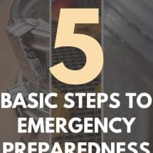 Eat Well, Spend Less: 5 Basic Steps to Emergency Preparedness