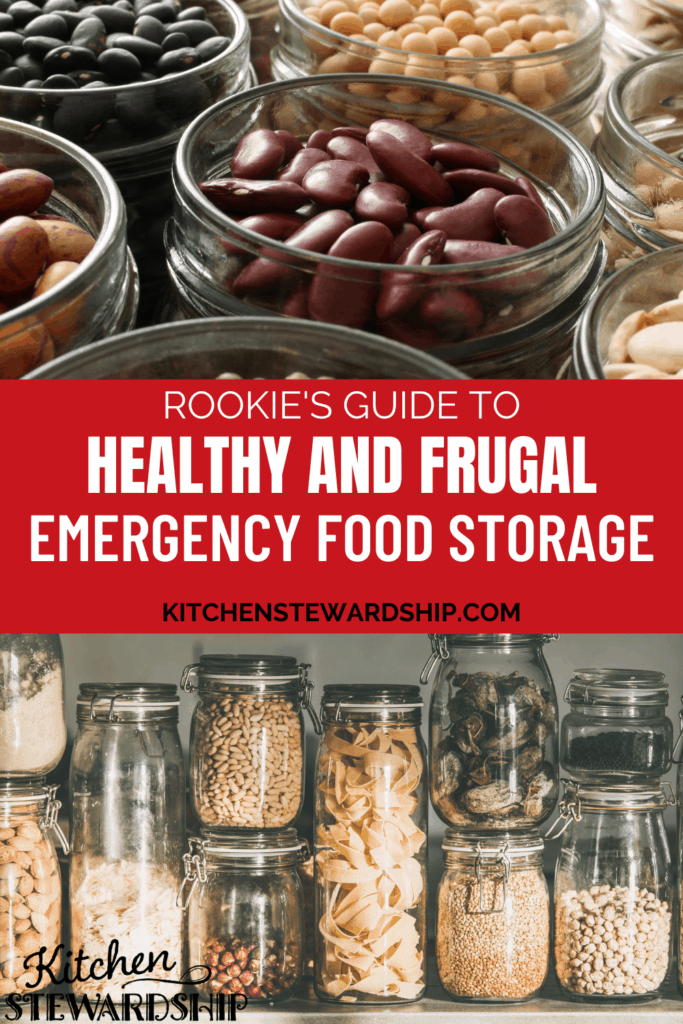 Rookie's guide to emergency food storage