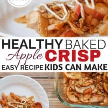 Healthy Homemade Baked Apple Crisp Recipe {With A FREE Download!}