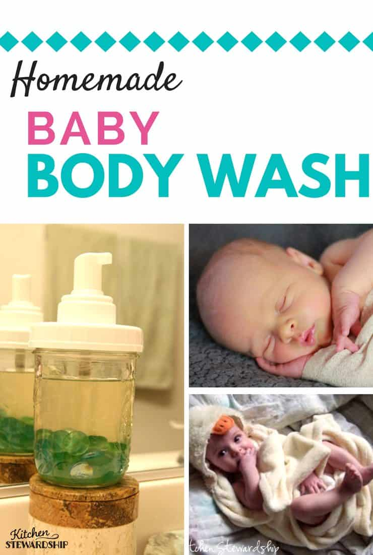 How to make simple, frugal and natural homemade baby (or big person) body wash in a foaming dispenser. It's easy and safe for your little ones.