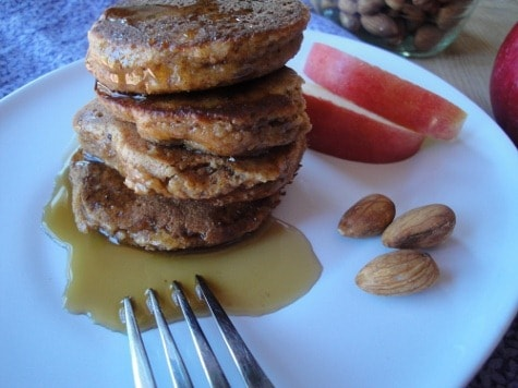 Almond Apple grain free pancakes