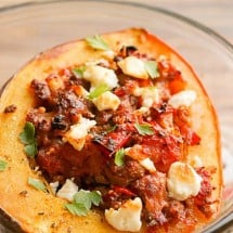 Savory Greek Sausage Stuffed Autumn Squash