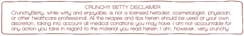 Crunchy Betty's Disclaimer