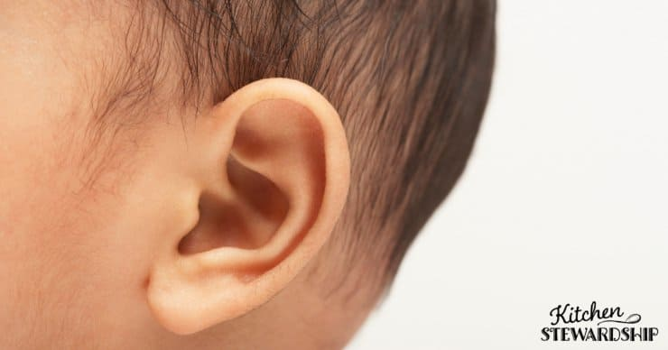 A close up of a child\'s ear