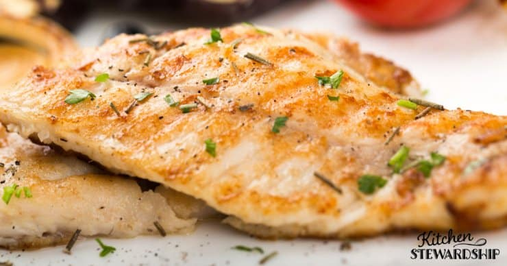 A close up of cooked fish