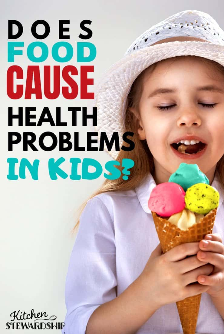 Are food and health problems in kids connected?