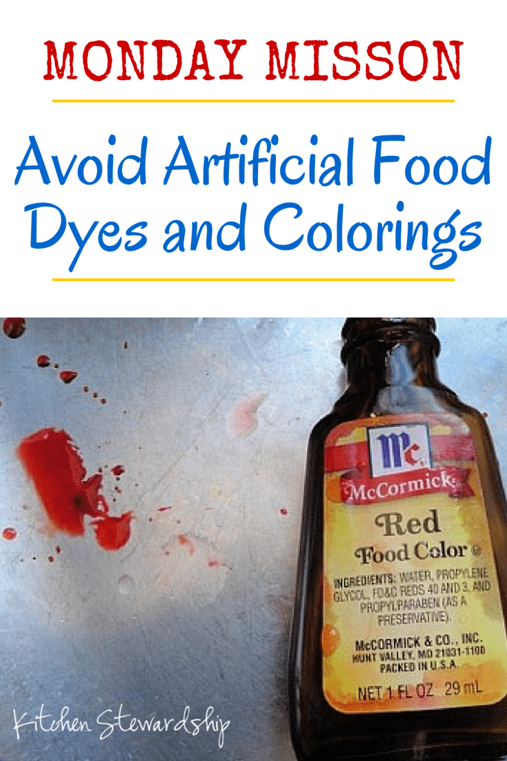 How to Avoid Food Coloring and Artificial Food Dyes