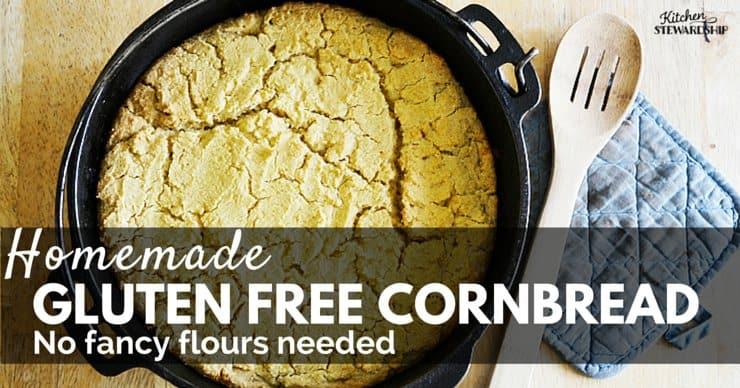 Homemade Gluten Free Cornbread