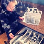My kids help with utensil sorting from an early age - find out what other responsibilities are appropriate for all different ages in this comprehensive post!