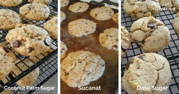 Cookies with natural sweeteners