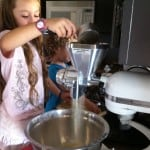Kids helping in the kitchen with flour
