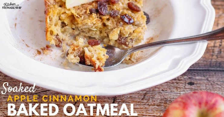 Soaking reduces phytates, nutrient inhibitors that can hurt your nutrition. Eat this baked oatmeal in peace after a lovely overnight soak, knowing you've made something both delicious and nutritious.