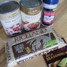 Real Food Donation Printable: Mexican Rice with Beans