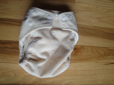 kawaii green baby pocket cloth diaper