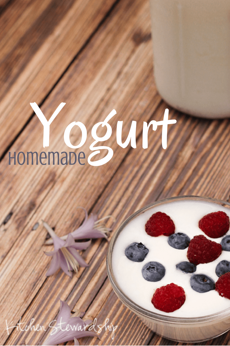 Such is homemade yogurt.