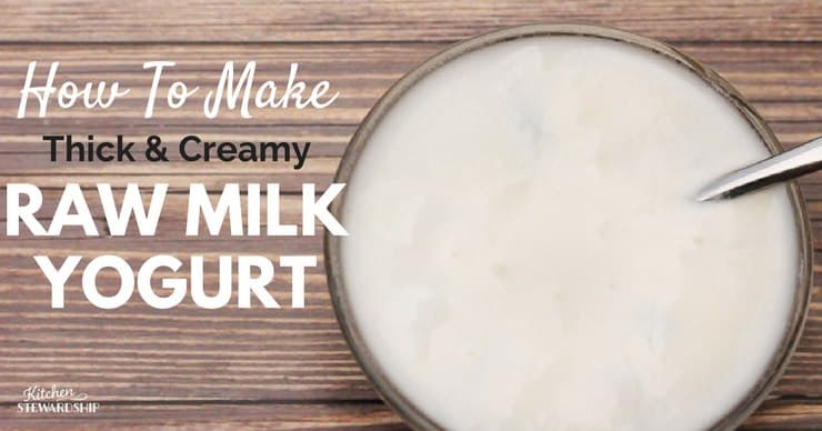 How To Make Raw Milk Yogurt