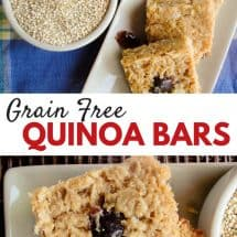 Grain-free Quinoa Bars Recipe