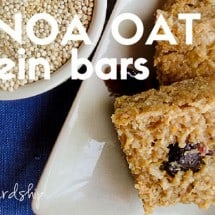 Quinoa Oat Protein Bars Recipe