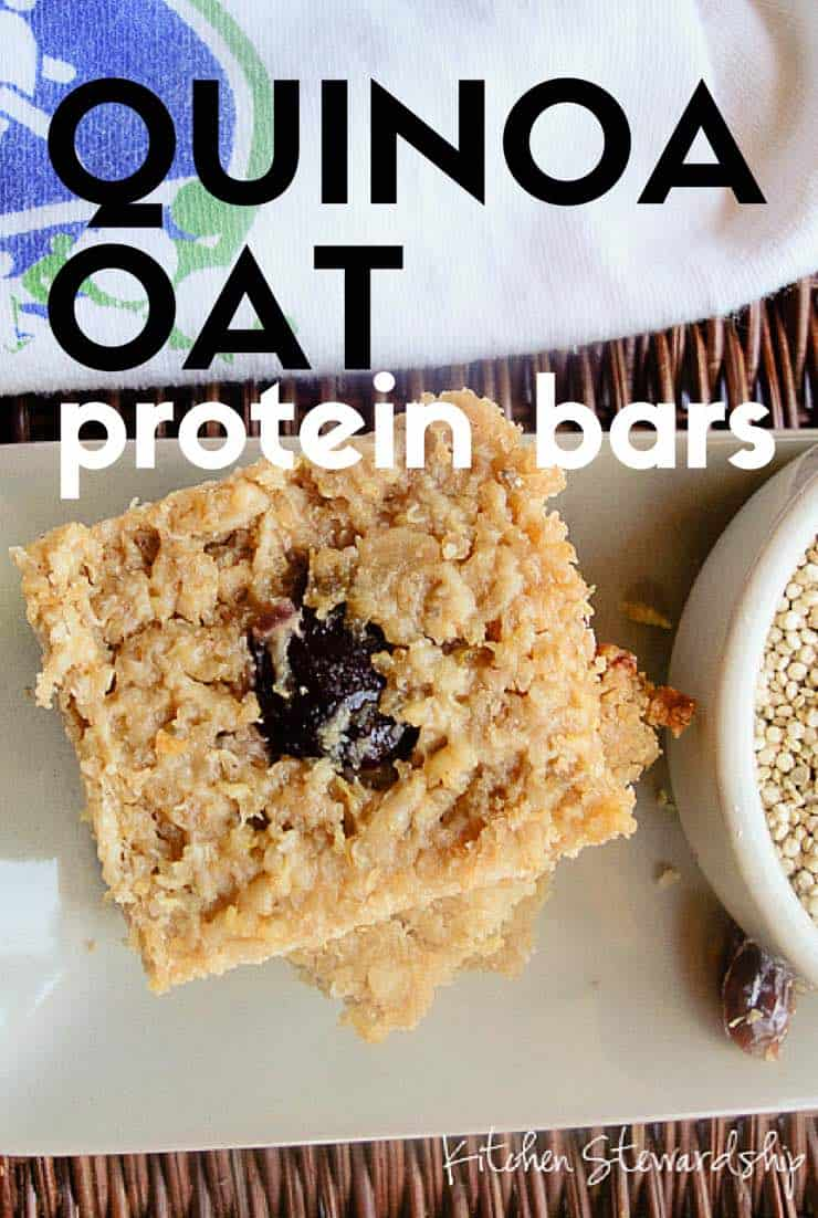 Fuel your days with these filling and energy-packed gluten-free quinoa oat protein bars.