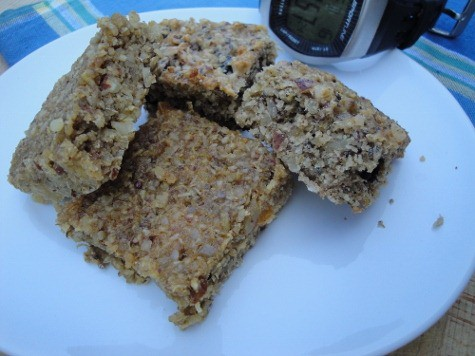 Grain-free Quinoa Bars. Quinoa and nuts come together in this high protein, grain-free, gluten-free, real food snack bar recipe, designed for exercising, hungry moms, or kids on the go. Dozens of variations to try!
