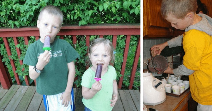 kids enjoying homemade popsicles