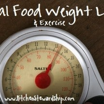 Real Food Weight Loss and Exercise: The End (But is there an end?)