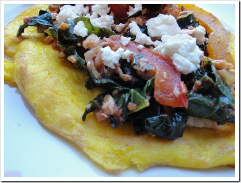 CSA greens with kale salmon mushrooms crepe (5) (475x356)