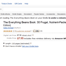 Introducing the Everything Beans Book on Kindle!
