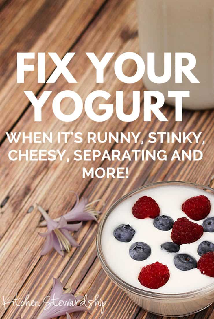 Is your homemade yogurt runny, thin, cheesy, lumpy, chunky, separated, or just not right? Troubleshoot here and you'll be flying high with thick, creamy homemade yogurt in no time!